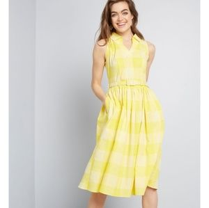 Collectif x MC Span the Ages Fit and Flare Dress